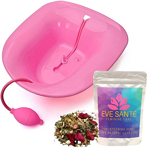 Eve Santé Yoni Steam Kit - Yoni Steam Seat for Toilet & Yoni Steam Herbs for Cleansing - V Steam Seat Kit for Vaginal Steam - V Steam Yoni Steam Bowl - Vaginial Steaming Seat Kit - Vagina Detox Kit
