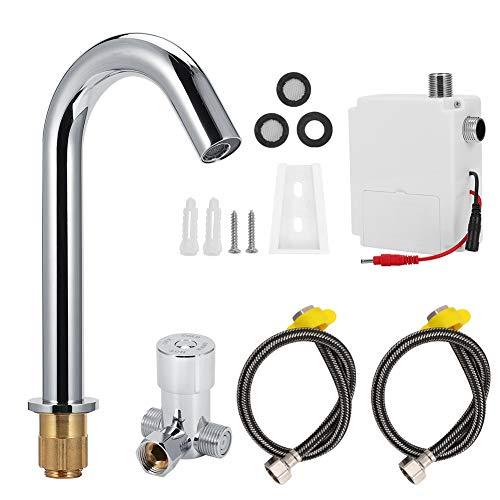 Sensor Wasserhahn, G1/2in Automatischer Infrarot-Induktionssensor Wasserhahn Warm- und Kaltwasserhahn für das Home Hotel