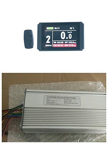 NBPower 36V/48V 1000W 26A Brushless DC Motor Controller Ebike Controller +KT-LCD8H Color Display One Set,Used for 1000W Ebike Kit.