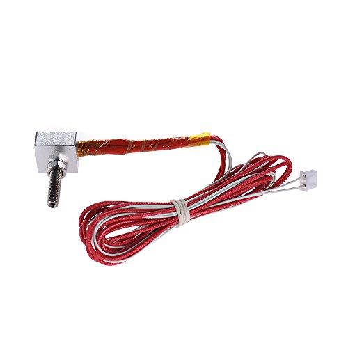 Aibecy Cabezal Boquilla Extrusora DIY caliente Fin Kit Boquilla 0,4 mm y 30 mm M6 Extrusora Cuello y 12V 40W calentador y NTC 3950 termistor y aluminio calentador de bloque