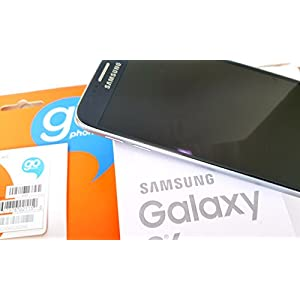 Samsung Galaxy S6 Black Saphire At&t Go Phone 4g LTE Runs on Go-Phones $60 Unlimited Plan 4G LTE Sim Card Installed