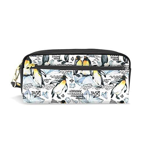 Bonipe Pingouin Motif Trousse Pen Box Pochette Sac d'école papeterie Fournitures de voyage Cosmétique Sac de maquillage