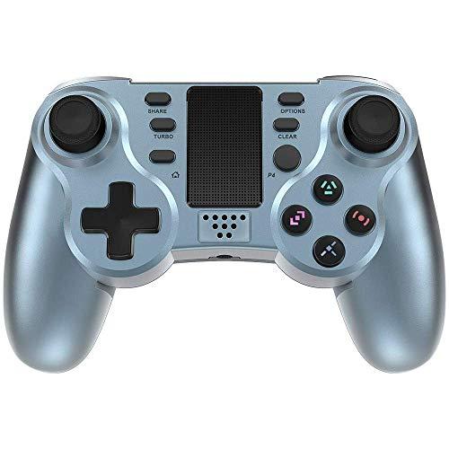 Mando de Juegos PowerLead para PS4, Controlador de Juegos Inalámbrico 6 Ejes Gamepad de Doble Vibración para Playstation 4 / Playstation 3 / PC con Panel Táctil LED y Conector de Audio