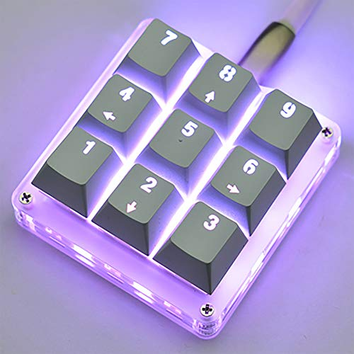 9 Keys 24 Macro Programmable Setting Keypad RGB Backlight Mechanical Keyboard for OSU Single-Handed Keyboard Electric Contest Game PC Laptop MAC Win Geeker Outemu Red Switch