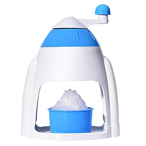 AOXING Manual Ice Shaver Ice Crusher - Ice Shaver And Snow Cone Machine - Premium Portable Ice Crusher And Shaved Ice Machine with Free Ice Cube Trays for Milk Tea Shop, Coffee Shop, Home, BPA-Free