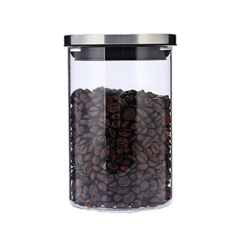 貯蔵タンク 密閉容器 ガラス 保存 瓶 密閉保存びん ガラス コーヒー豆保存容器 珈琲 保存 瓶 お茶葉筒 ガラス 保存容器 800ml