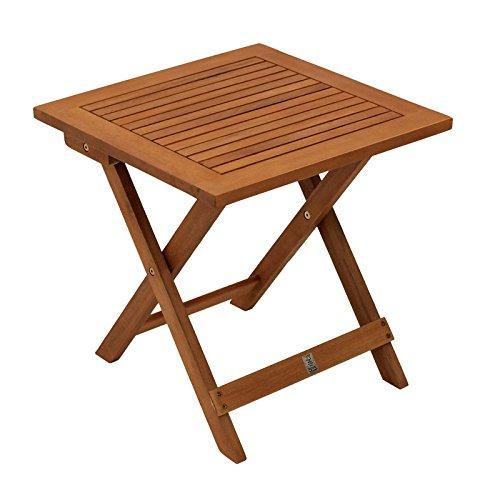 Gartenmoebel Klapp Beistelltisch Java 45x45cm Eukalyptus geölt FSC®-Zertifiziert Tisch