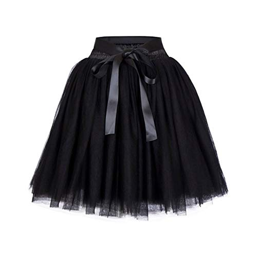 QZBTU ondergoed voor dames, 7 lagen tule met rok met ballon