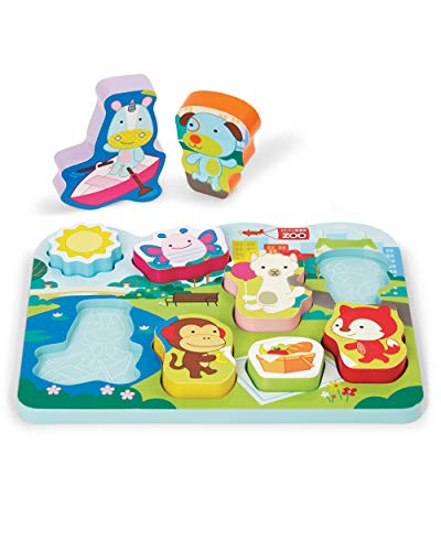 Skip Hop Baby's First Puzzle, Zoo Park Pals