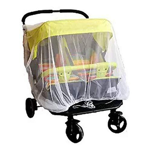PULABO - Mosquitera universal para cochecito de bebé, mosquitera especial universal para carrito de bebé, para cochecitos, asientos de coche, cunas, color blanco