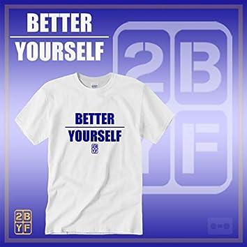 2BYF White T Blue Logo