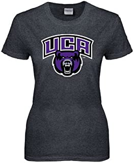 CollegeFanGear Central Arkansas Ladies Dark Heather T Shirt 'UCA Bears w/Bear Head'