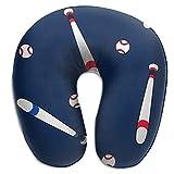 Almohada para el Cuello Béisbol y Bate en Forma de U Almohada de Viaje Diseño ergonómico Contorneado Funda Lavable