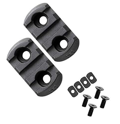 360 Tactical 3 Slots M-LOK Polymer Rail Section For M Lok Handguard Three Slots Rail Picatinny Rail Set Of 2 Pieces Polymer Material Import From JAPAN