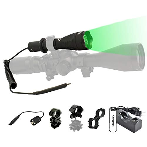 ORION H30-G Green Predator Premium 273 Yards Rechargeable Hog Hunting Light with Scope Mount, Rail Mount, Barrel Mount, Remote Pressure Switch & Charger Kit