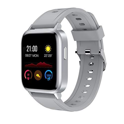 LZXMXR Pulsera inteligente, Sleep Sports IP68 impermeable para la salud, reloj Bluetooth, información de llamadas, recordatorio sedentario (color: gris)