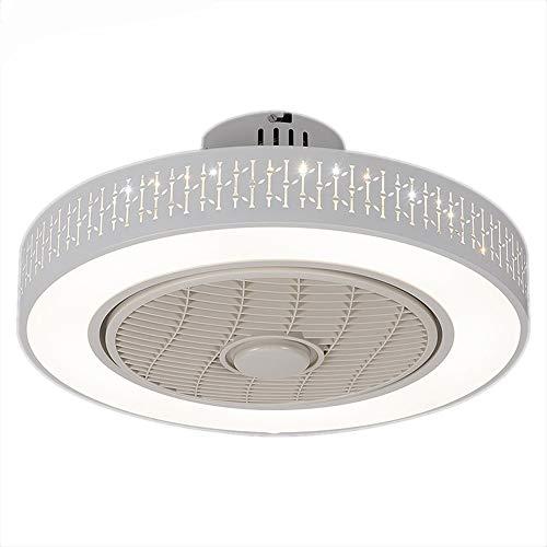 OUPPENG Lámpara de Ventilador Aplicación de ventiladores de techo con lámparas de ventilador inteligente de control de Wi-Fi ligero Ventilador de Teto para Dormitorio Decora