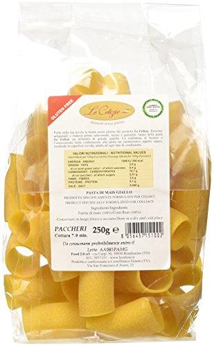 LE CELIZIE  - PACCHERI DI MAIS GIALLO - 5 confezioni da 250 gr, Senza glutine
