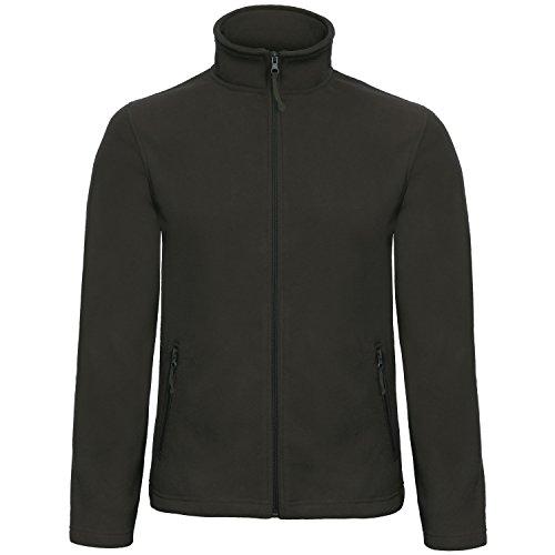 B&C Collection Herren ID 501 Mikro Fleece Jacke (Large) (Schwarz)