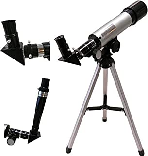 FIDELITY Land & Sky Telescope - Optical Glass & Metal Tube Refractor Telescope (90X Power) with Tripod & 2 Eyepieces