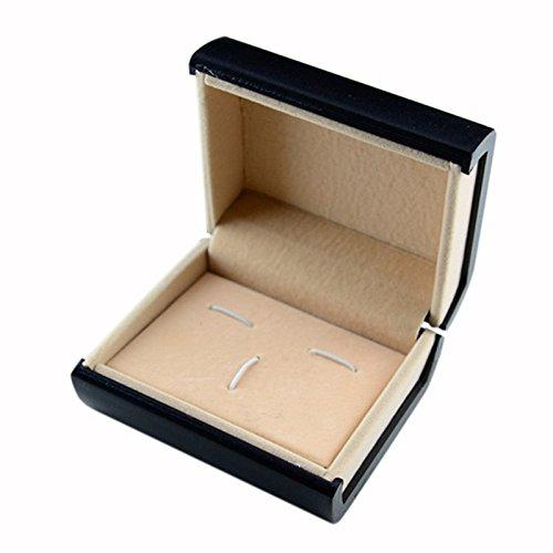 Boutons de manchette – Microphone cravate ryadia (TM) Fashion Ensemble cadeau boîte boîte de transport portable Rouge/Blanc/Caja de Regalo vente