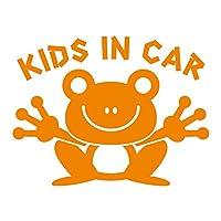 imoninn KIDS in car ステッカー 【シンプル版】 No.22 カエルさん (オレンジ色)