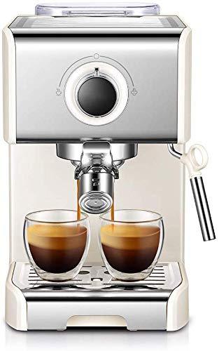 Couyy Retro Volle Espresso Machine 15 van roestvrij staal, semi-automatische bar met gistermelk, verpakt met gratis accessoires voor cappuccino, melk en moka