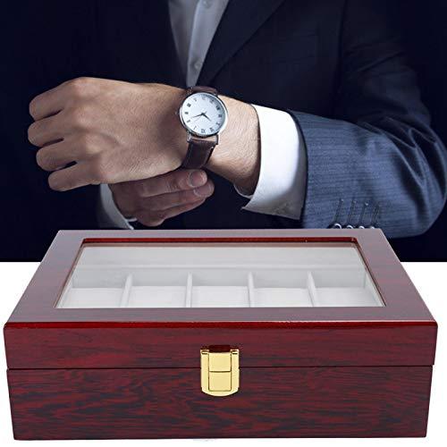 BOLORAMO Mire la Caja de presentación, Caja de Reloj antioxidante/decolorante de Color Brillante con Rejilla 10 para Relojes para Tienda de Relojes