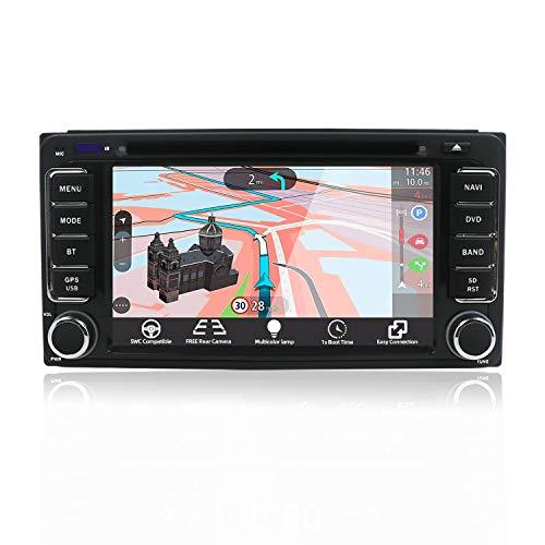 JOYX Wince 6.0 Autoradio Passt für Toyota Carola Camry Tundra RAV4 Navigation - Rückfahrkamera KOSTENLOS - 6.2 Zoll - Unterstützung MirrorLink Multicolor Illumination Lenkradsteuerung USB - GPS 2 Din