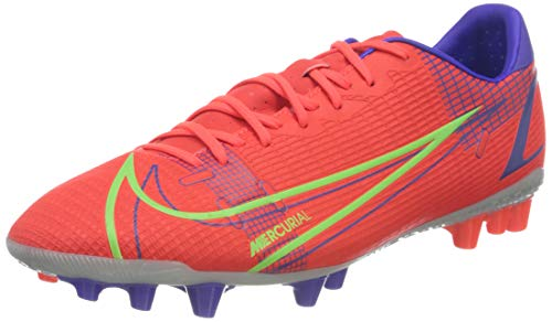 Nike Herren Vapor 14 Academy AG Football Shoe, Bright Crimson/Metallic Silver-Indigo Burst-White-Rage Green, 40 EU