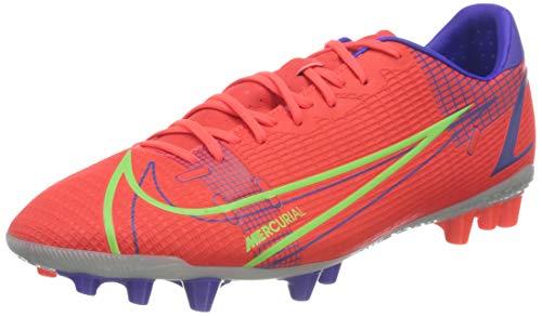 Nike Vapor 14 Academy AG, Football Shoe Hombre, Bright Crimson/Metallic Silver-Indigo Burst-White-Rage Green, 45 EU
