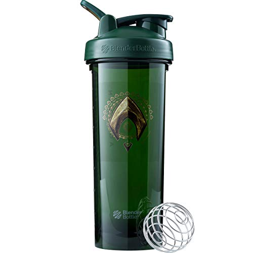 BlenderBottle Justice League Shaker Bottle Pro Series Perfect for Protein Shakes and Pre Workout, 32-Ounce, Aquaman