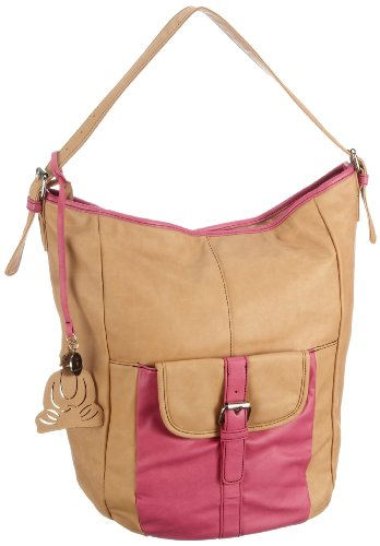 Friis & Company Damen Mulis Bag Schultertaschen, Braun (Camel 008), 30x18x9 cm