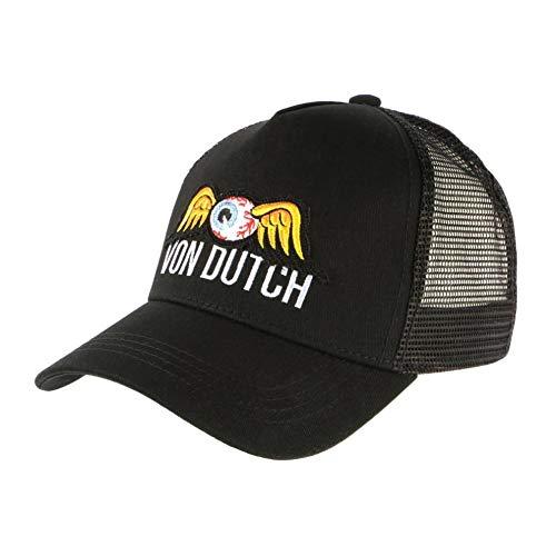 Von Dutch Eye Ball Black Baseball Trucker Fashion - Gorra para hombre...