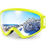findway Gafas Esqui Niño 8~14 Años Mascara Esqui Niño Gafas de Esqui Niño Niña OTG Ajustable Niños AntiNiebla Protección UV Compatible con Casco para Esquiar Invierno (Lente Gris/Argentado2(VLT 21%))