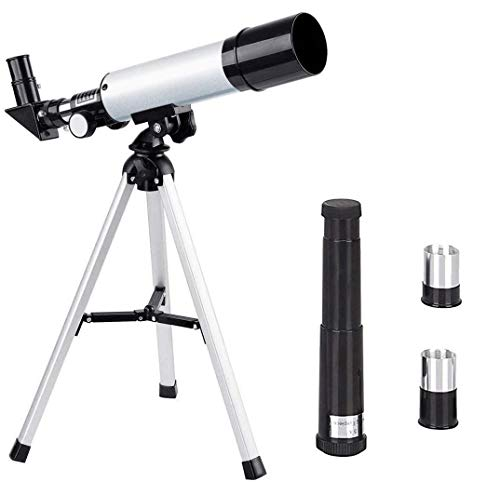 SWAGITLOUD SZSMD Kids Telescopes, 90X HD Astronomical Telescope for Kids Educational Science with Tripod & 2 Magnification Eyepieces, for Kids Learning Toy Sky Star Gazing Birds Watching