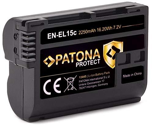 PATONA Protect V1 EN-EL15c (2250 mAh) - Kompatibel mit Akku Nikon Z5 Z6 II Z7 II