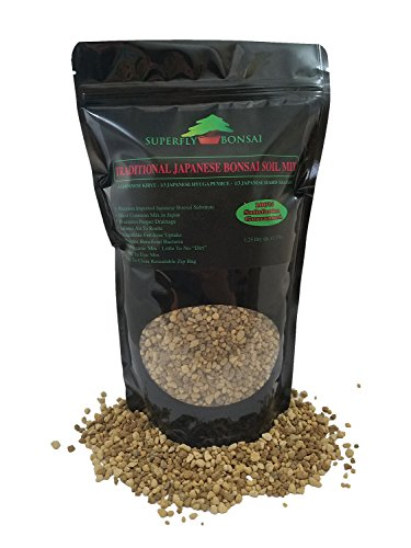 Traditional Japanese Bonsai Soil Mix - Professional Sifted and Ready to Use Tree Potting Blend in Easy Zip Bag - Kiryu, Akadama & Hyuga Pumice (1.25 Dry Quart)
