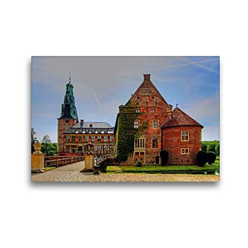 CALVENDO Premium Textil-Leinwand 45 x 30 cm Quer-Format Schloss Raesfeld im Münsterland, Leinwanddruck von Paul Michalzik