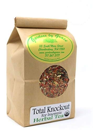Total Knockout for Insomnia | Organic Sleep Aid | Relaxation, Restful, Bedtime, Night Time, Good Night's Rest | Herbal Tea, Smooth Taste | Valerian, Chamomile, Passion Flower | 4 oz