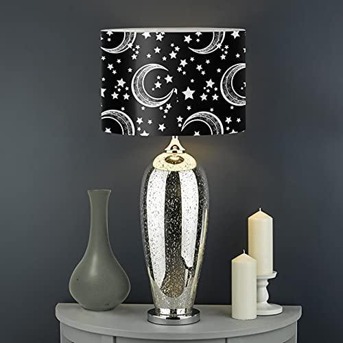 Biyejit Moon Stars - Pantalla para lámpara de techo, tamaño grande, para lámpara de pie y lámpara de mesa