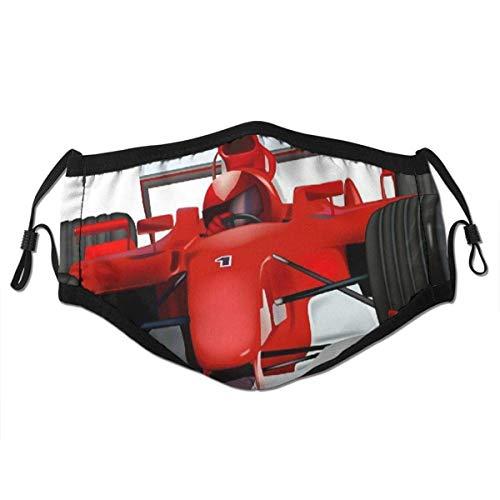 dpcm Pañuelo reutilizable de media cara, ecuación de coche de carreras, diseño deportivo, deportivo, ajustable, para deportes al aire libre