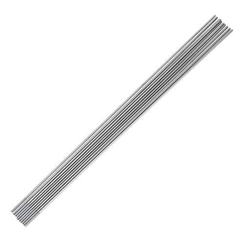 Electrodo de tungsteno, 10 piezas, electrodo de soldadura de tungsteno gris cerio WC20, para máquina de soldadura TIG DC, para(1.0 * 150mm)