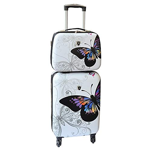Valise cabine avec son Vanity rigide blanc