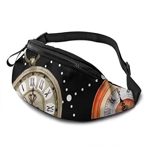 AOOEDM Reloj de Bolsillo con Reloj Antiguo, cinturón para Correr, riñonera, riñonera de Moda para Hombres, Mujeres, Deportes, Senderismo