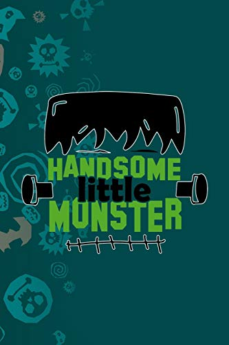 Handsome Little Monster: Notebook Journal Composition Blank Lined Diary Notepad 120 Pages Paperback Blue Stickers Monster C