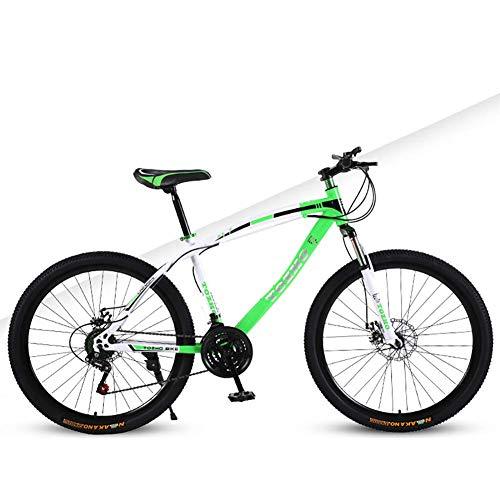 TYPO Bicicleta para niños, Amortiguador de Campo traviesa para niños y niñas Bicicleta de montaña de 24 '', Acero de Alto Carbono 21 Bicicletas de Velocidad Variable, Bicicleta de montaña Hombres