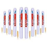 ABOAT - Rotulador de lechada, color blanco con punta de repuesto para restaurar el aspecto de las líneas de lechada de azulejos, blanco pack 10