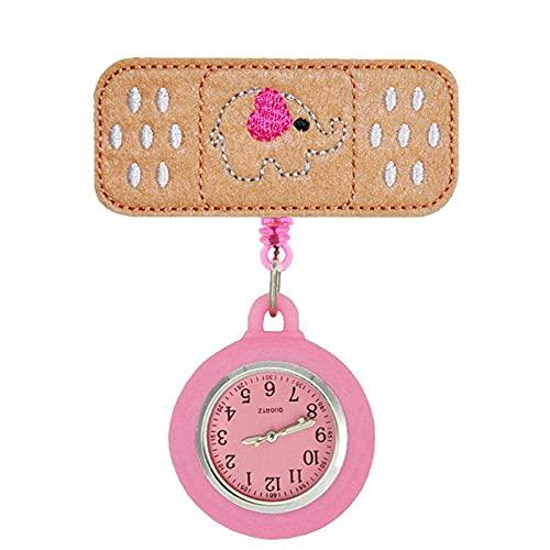 Fieltro enfermera reloj de bolsillo colgante reloj colgante reloj de bolsillo clip mesa enfermera watchtop reloj enfermera mesa watchmail mesa-10