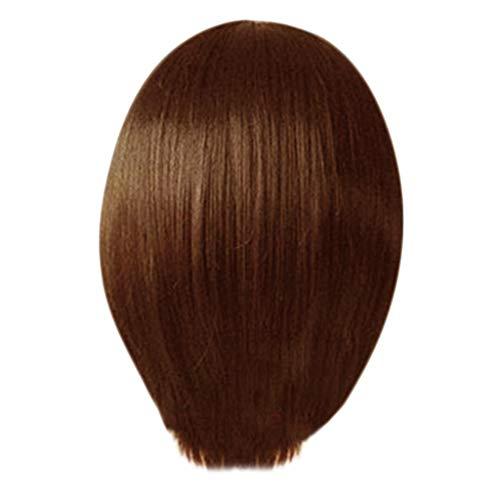 URSING Nouvelle Perruque Femme Raide Droite Moyenne 25cm (Brown)